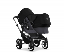 Bugaboo Donkey 2 Twin (Шасси ALU+/STEEL BLUE) ALU/STEEL BLUE/BLACK